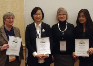 Beth St. Jean, Soo Young Rieh, Elaine Toms (conference co-cochair), and Ji Yeon Yang